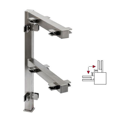 Hustenschutz Pfosten 35x35 - 20-13335 - 90° - Edelstahl matt Design