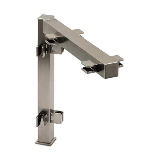 Hustenschutz Pfosten 35x35 - 20-132535 90° - Edelstahl matt Design