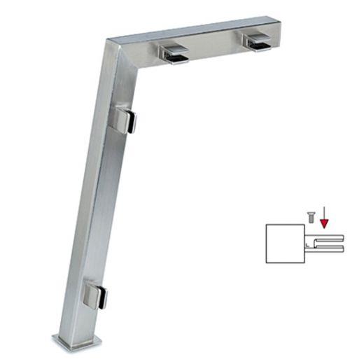 Hustenschutz Pfosten 20-122-20 links - Rohr 20x20 mm - Edelstahl Design