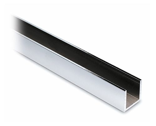 Alu U-Profil 15x15x15mm Chrom Design - Zuschnitt