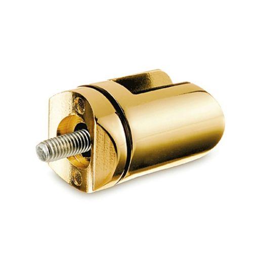Messing Design Scharnier-Adapter - Glas 4-9 mm - Rohr Ø 38.1 mm