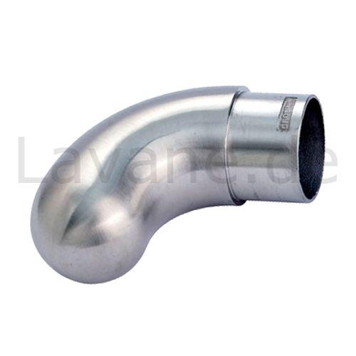 Edelstahl Endbogen kurz - für Edelstahlrohr 33,7 mm