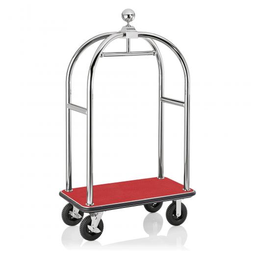 Gepäck Transportwagen 1130x620 mm - Chrom Design - ROT