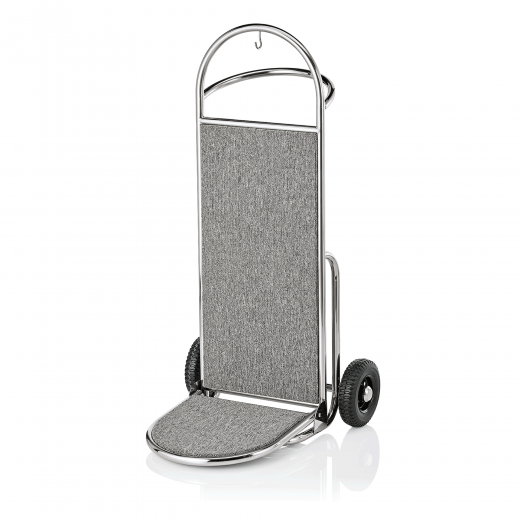 Gepäck Transportkarre 610x705 mm - Chrom Design - GRAU