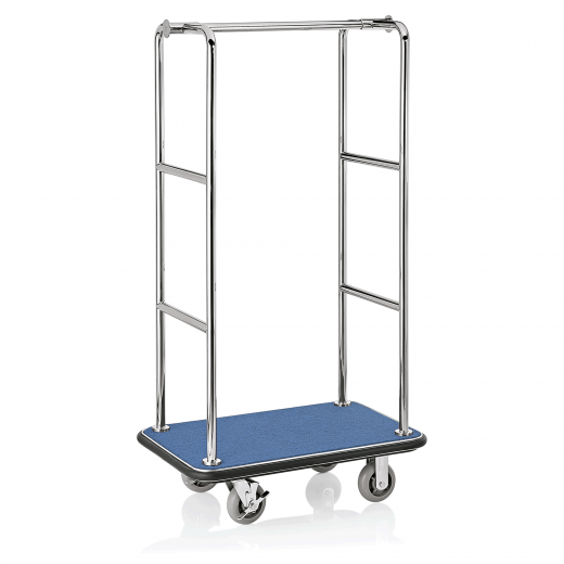 Koffer Transportwagen 945x610 mm - Chrom Design - BLAU