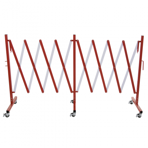 Absperr Scherengitter - Aluminium - Rot Weiß