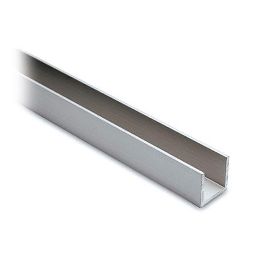 Alu U-Profil 15x15x15mm silber matt eloxiert - ganze Länge 200 cm