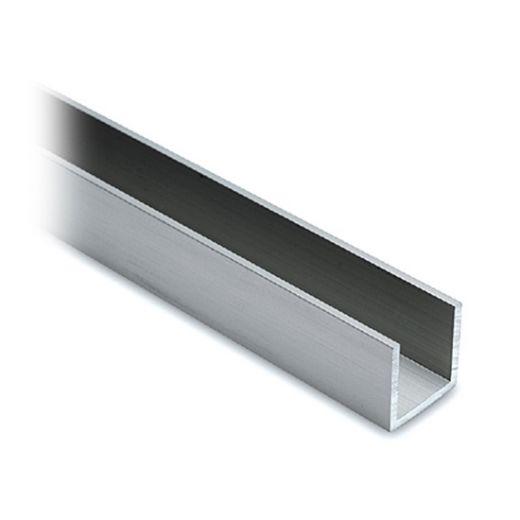 Alu U-Profil 20x20x20mm silber matt eloxiert - ganze Länge 200 cm