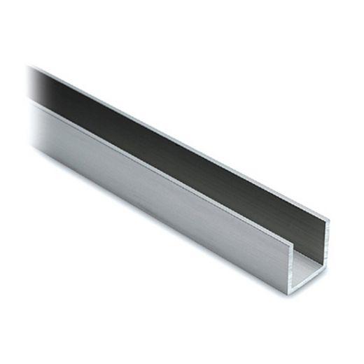 Alu U-Profil 15x15x15mm Edelstahl Design - ganze Länge 200 cm