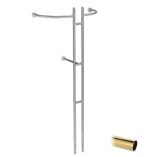 Messing Design Garderobe Modell 20720 - 25,4 mm