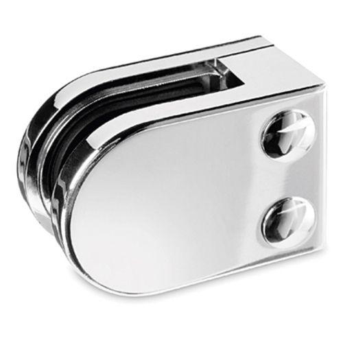 Chrom Design Glasklemme - 22 - Flachmontage - Glas 6-10 mm