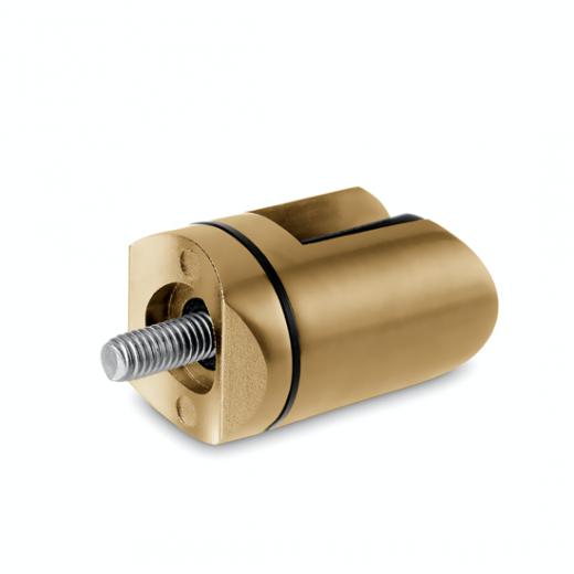 Messing matt Design Scharnier-Adapter - Glas 4-9 mm - Rohr Ø 25.4 mm