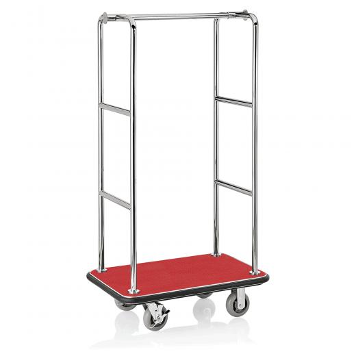 Koffer Transportwagen 945x610 mm - Chrom Design - ROT