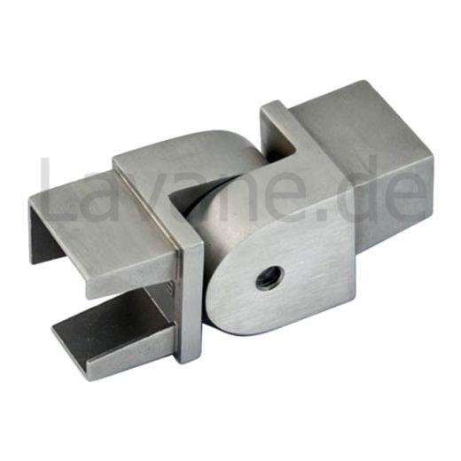 Edelstahl Rohrverbinder Vierkant 40x40 mm - variabel