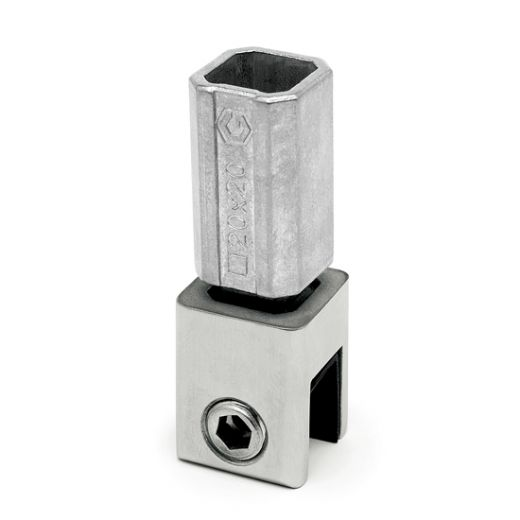 Edelstahl Rohrverbinder Vierkant 12x12 mm - variabel
