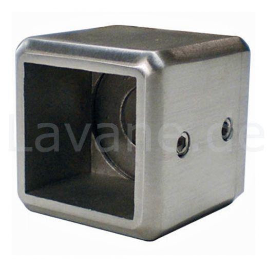 Edelstahl Adapter - Wandhalter für Vierkant 40x40