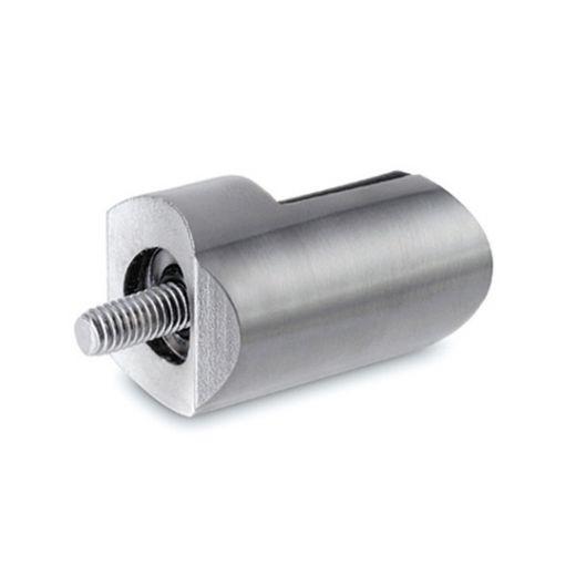 Edelstahl Design Anschlag-Adapter - Glas 4-9 mm - Rohr 25.4 mm