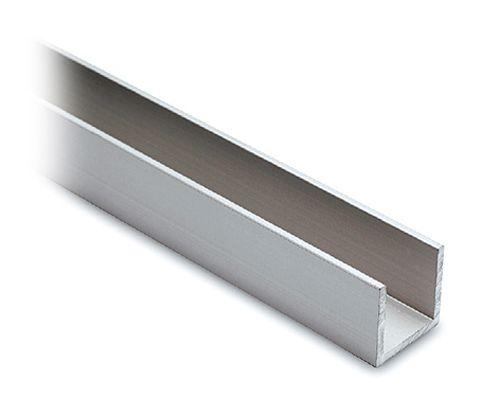 Alu U-Profil 20x20x20mm silber matt eloxiert - Zuschnitt