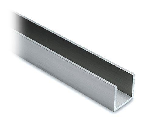 Alu U-Profil 20x20x20mm Edelstahleffekt - Zuschnitt