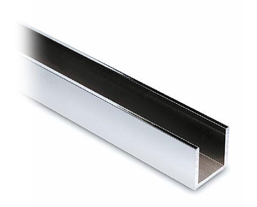 Alu U-Profil 20x20x20mm Chrom Design - Zuschnitt