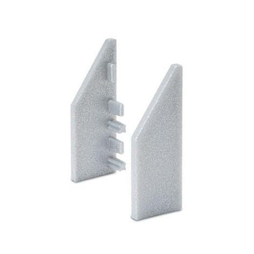 Endkappe links Spiegelschiene Aluminium 35x14mm