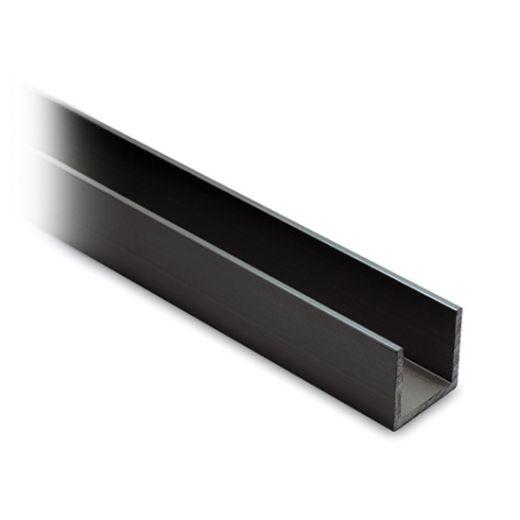 Alu U-Profil 20x20x20mm Aluminium Anthrazit schwarz matt - Zuschnitt