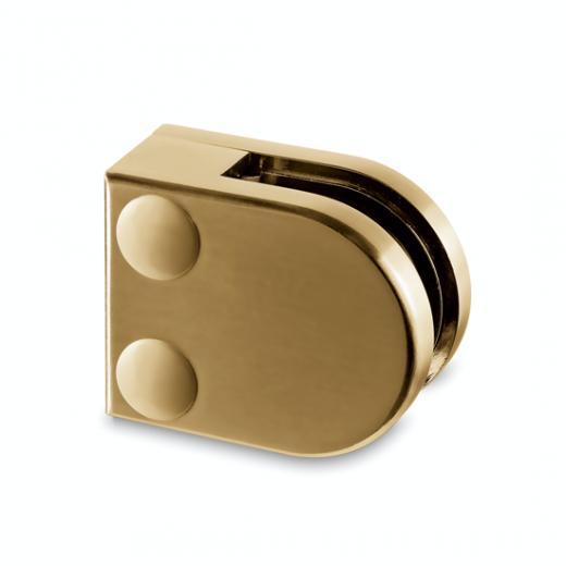 Messing matt Design Glasklemme 20 - Flachmontage - Glas 6-8mm