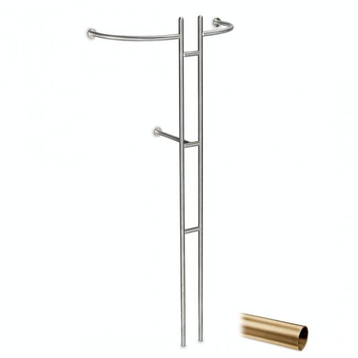 Messing matt Design Garderobe Modell 20720 - 25,4 mm