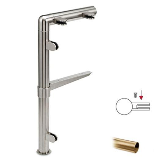 Hustenschutz Pfosten 20-131-25 links - Rohr Ø 25.4 mm - Messing matt Optik