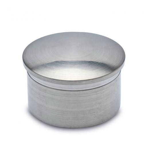 Edelstahl Design Rohr 19 mm Endkappe gewölbt