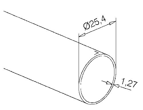 edelstahlrohr 25 4mm 1 zoll zuschnitt nach wunsch. Black Bedroom Furniture Sets. Home Design Ideas
