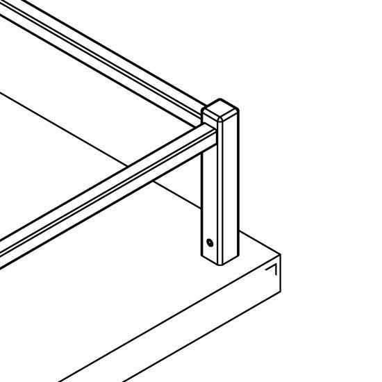 edelstahl vierkant reling endst tze 2 holzmontage. Black Bedroom Furniture Sets. Home Design Ideas