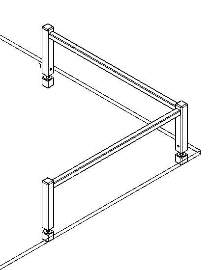 edelstahl vierkant reling mittelst tze glasmontage. Black Bedroom Furniture Sets. Home Design Ideas