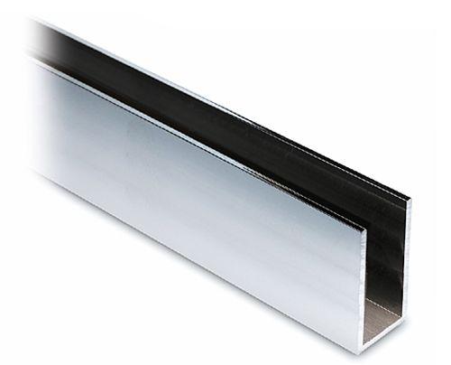 alu profil 40x20x40mm aluminium poliert zuschnitt. Black Bedroom Furniture Sets. Home Design Ideas