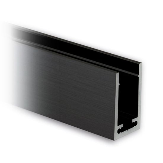 alu profil 40x25x40mm aluminium schwarz matt zuschnitt. Black Bedroom Furniture Sets. Home Design Ideas