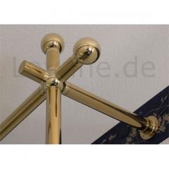 Messing Design Rohr 25,4 mm Endkugel