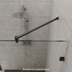Anthrazit Design - Ø19mm - 1.250mm - Duschwand-Stabilisationsset 45°