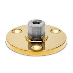 Messing Design Rohr 25,4 mm Innenflansch