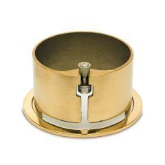 Messing Design Rohr 76,2 mm Rohrbefestigungshülse