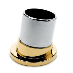 Messing Design Rohr 38,1 mm Rohrbefestigungshülse 80°