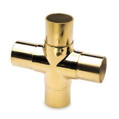 Messing Design Rohrverbinder Kreuz für Rohr 25,4 mm