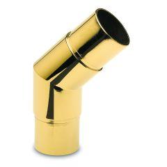 Messing Design  Rohrverbinder 45° für Rohr  38,1 mm