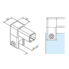Messing Design  Rohrverbinder 45° für Rohr  50,8 mm