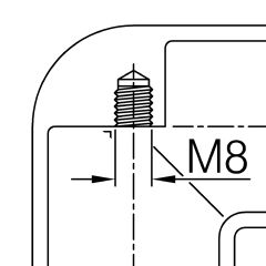 Messing Design Rohrverbinder 90° für Rohr 25,4 mm