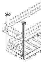 Messing Design Rohrverbinder 3x90° für Rohr  38,1 mm
