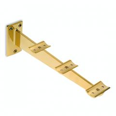Messing Design Rohr 25,4 mm Tablettrutschenträger 325 mm