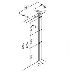 Anthrazit Design Garderobe Modell 20720 - 25,4 mm