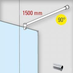 Duschwand Stabilisationsset 90° - Ø19mm - Länge 1.500mm - Edelstahl Design