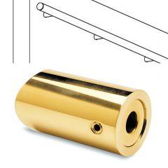 Messing Design Abstandshalter flach für Rohr 19 mm