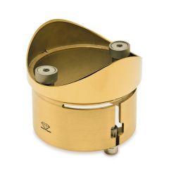 Messing Design  Rohradapter für Rohr  129,0 mm